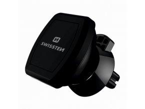 Magnetický držák mobilu(GPS) do auta, černý, plast, Swissten, přísavka na sklo, kloubový, černá, mobil
