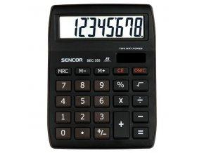 Sencor Kalkulačka SEC 255/8, bílá, kapesní, osmimístná, duální napájení