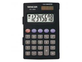 Sencor Kalkulačka SEC 295/8, černá, kapesní, osmimístná, duální napájení