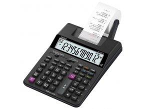 Casio Kalkulačka HR 150 RCE, černá, dvanáctimístná, s tiskem, duální napájení, dvoubarevný tisk