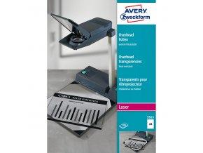 Avery Zweckform, fólie, transparentní, A4, 100ks, pro zpětné projektory, 3563
