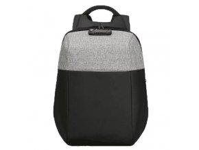 """Batoh na notebook 15,6"""", NB008, černo-šedý z polyesteru/polyethylenu/nylonu, není snadné vykrást"""