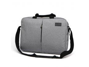 """Taška na notebook 15.6"""", NT013, šedá z polyesteru, voděodolná s ramenním popruhem typ"""