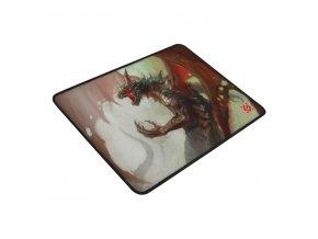 Podložka pod myš, Dragon Rage M, herní, červeno-bílá, 36x27 cm, Defender