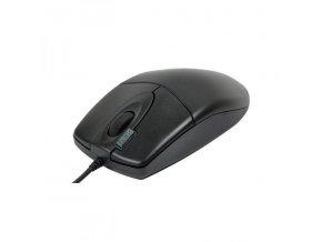 A4tech Myš OP-620D, 800DPI, optická, 3tl., 1 kolečko, drátová USB, černá, klasická, 2click