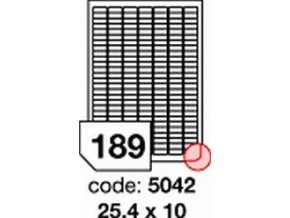 Etiketa 25.4x10 mm inkjet/laser/copy Office
