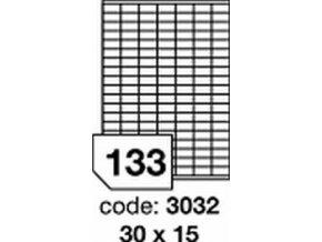 Etiketa 30x15 mm LASER LESKLÁ BÍLÁ polyesterová R0504