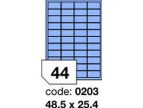 Etiketa 48.5x25.4 mm modrá inkjet/laser/copy Office