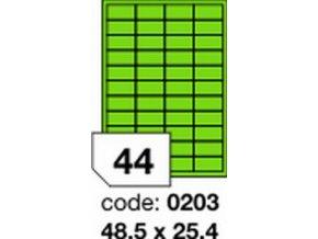 Etiketa 48.5x25.4 mm zelená FLUOrescentní laser/copy Office