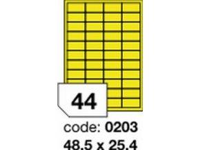 Etiketa 48.5x25.4 mm žlutá FLUOrescentní laser/copy Office