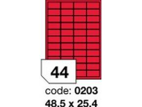 Etiketa 48.5x25.4 mm červená FLUOrescentní laser/copy Office