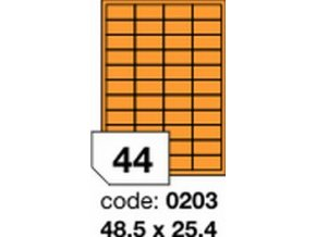 Etiketa 48.5x25.4 mm oranžová FLUOrescentní laser/copy Office