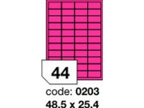 Etiketa 48.5x25.4 mm růžová FLUOrescentní laser/copy Office