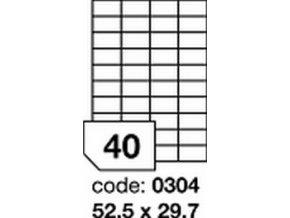 Etiketa 52.5x25.5 mm inkjet/laser/copy Office