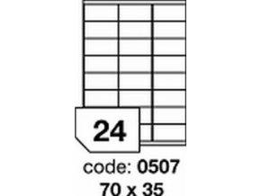 Etiketa 70x35 mm inkjet/laser/copy Office