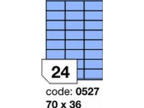 Etiketa 70x36 mm modrá inkjet/laser/copy Office