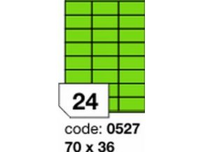 Etiketa 70x36 mm zelená FLUOrescentní laser/copy Office
