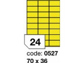 Etiketa 70x36 mm žlutá FLUOrescentní laser/copy Office