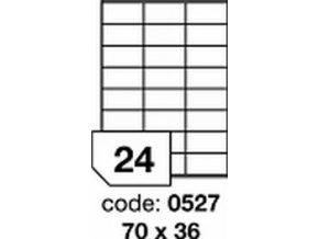 Etiketa 70x36 mm LASER LESKLÁ BÍLÁ polyesterová R0504