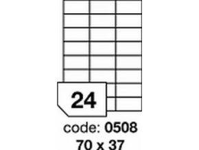 Etiketa 70x37 mm inkjet/laser/copy