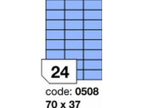 Etiketa 70x37 mm modrá inkjet/laser/copy Office