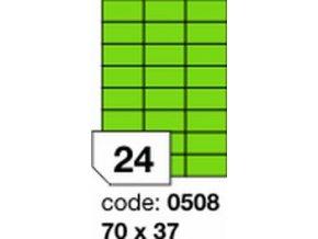 Etiketa 70x37 mm zelená FLUOrescentní laser/copy Office