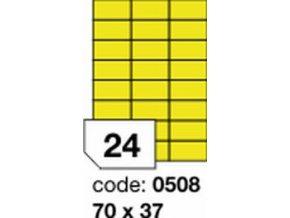 Etiketa 70x37 mm žlutá FLUOrescentní laser/copy Office