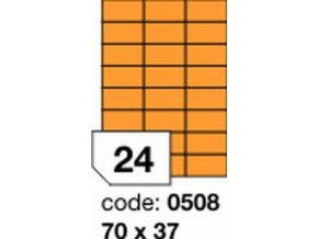 Etiketa 70x37 mm oranžová FLUOrescentní laser/copy Office