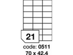 Etiketa 70x42.4 mm inkjet/laser/copy