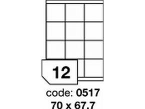 Etiketa 70x67.7 mm inkjet/laser/copy Office