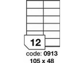 Etiketa 105x48 mm inkjet/laser/copy Office