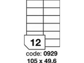Etiketa 105x49.6 mm inkjet/laser/copy Office