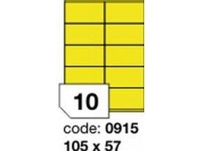 Etiketa 105x57 mm žlutá inkjet/laser/copy Office