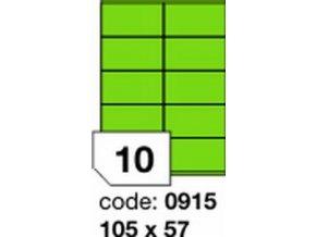 Etiketa 105x57 mm zelená FLUOrescentní laser/copy Office