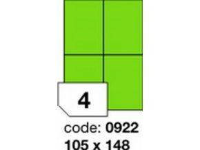 Etiketa 105x148.5 mm zelená FLUOrescentní laser/copy Office