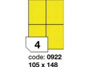 Etiketa 105x148.5 mm žlutá FLUOrescentní laser/copy Office