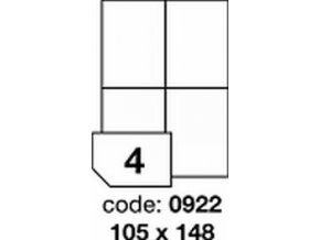 Etiketa 105x148.5 mm LASER MATNÁ BÍLÁ polyesterová R0502