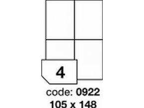 Etiketa 105x148.5 mm LASER LESKLÁ BÍLÁ polyesterová R0504