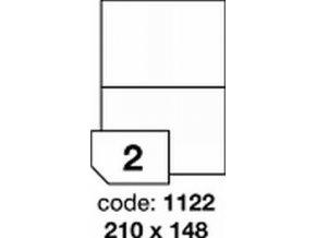 Etiketa 210x148.5 mm LASER MATNÁ BÍLÁ polyesterová R0502