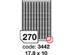 Etiketa 17.8x10 mm inkjet/laser/copy Office