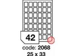 Etiketa 25x33 mm inkjet/laser/copy Office
