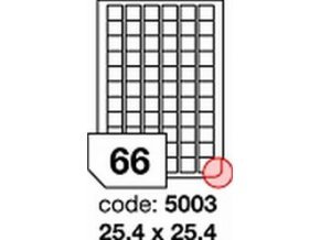 Etiketa 25.4x25.4 mm inkjet/laser/copy Office