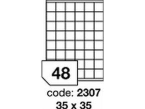 Etiketa 35x35 mm inkjet/laser/copy Office