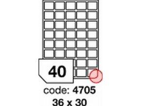 Etiketa 36x30 mm inkjet/laser/copy Office