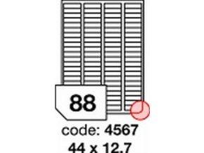 Etiketa 45x25 mm inkjet/laser/copy Office