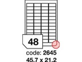 Etiketa 45.7x21.2 mm inkjet/laser/copy Office