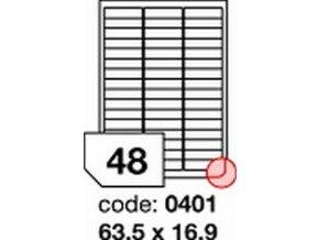 Etiketa 63.5x16.9 mm inkjet/laser/copy Office