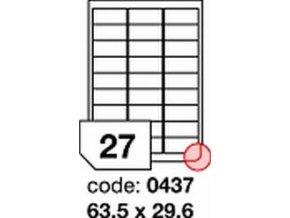 Etiketa 63.5x29.6 mm inkjet/laser/copy Office