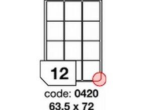 Etiketa 63.5x72 mm inkjet/laser/copy Office