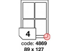 Etiketa 89x127 mm inkjet/laser/copy Office